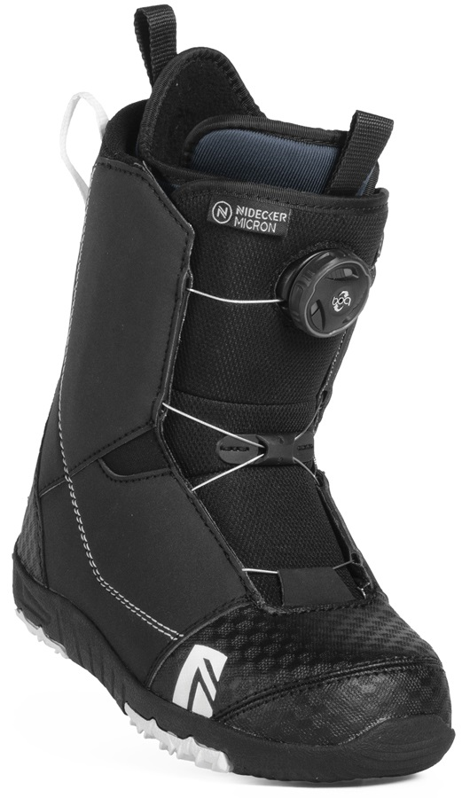 Nidecker Micron Boa Children's Snowboard Boots, UK 13C Black 2019