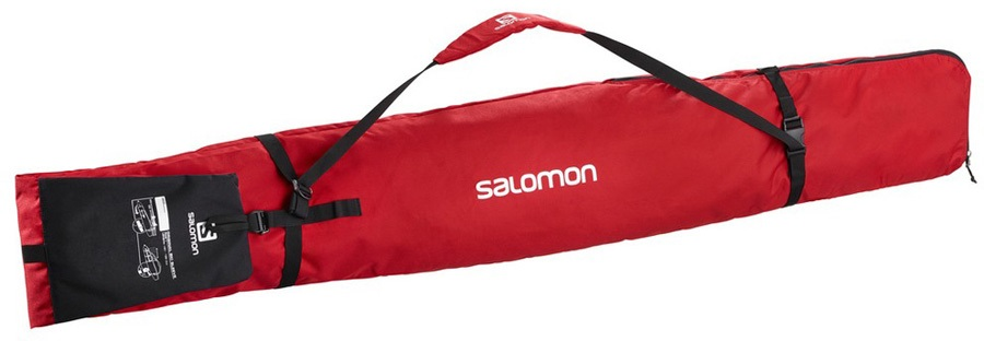 Salomon Original 1 Pair Sleeve Ski Bag, 190cm Barbados Cherry/Black
