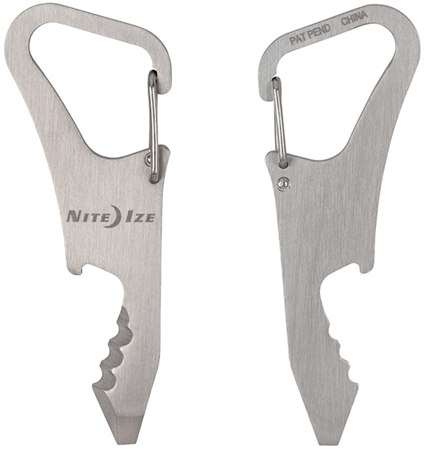 Nite Ize DoohicKey ClipKey Key Multi Tool With Carbiner, Stainless