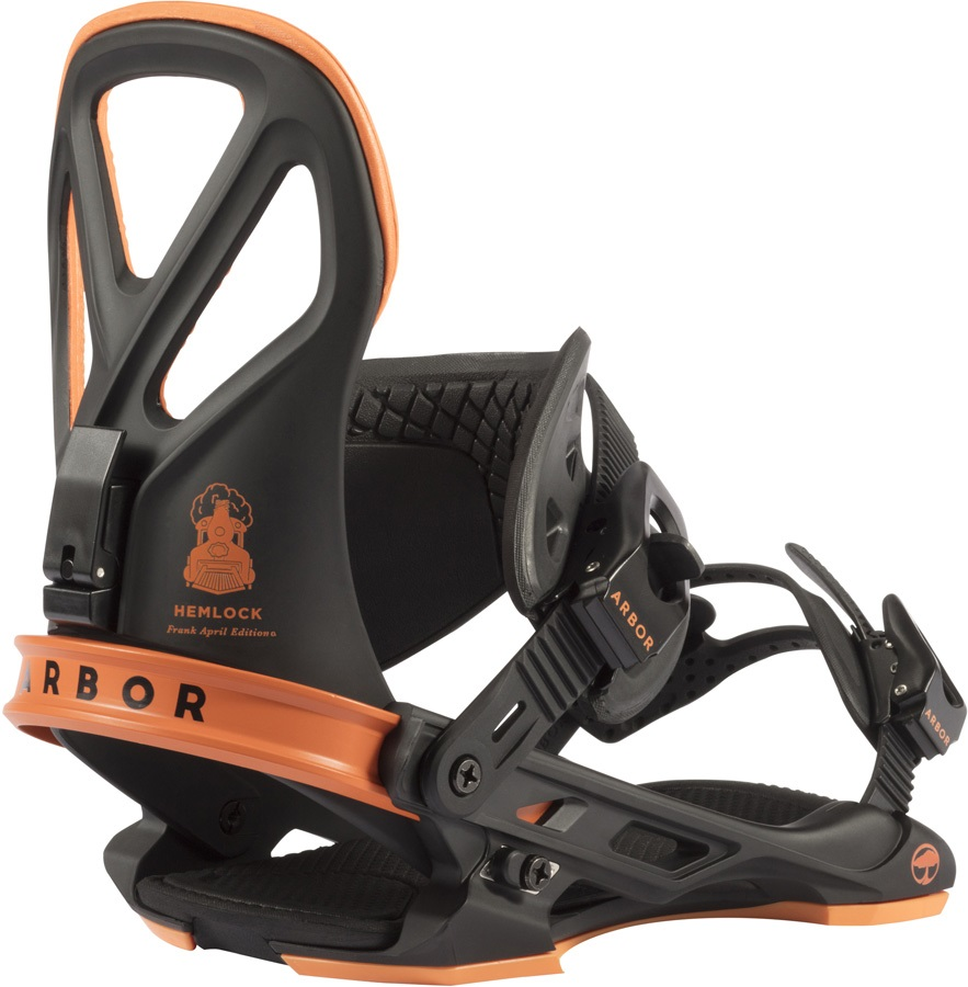 Arbor Hemlock Snowboard Bindings, M/L Orange 2018