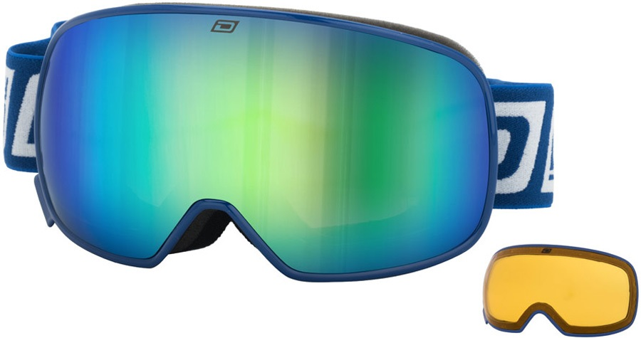 Dirty Dog Mutant 0.5 Junior Snowboard/Ski Goggles S Navy Green