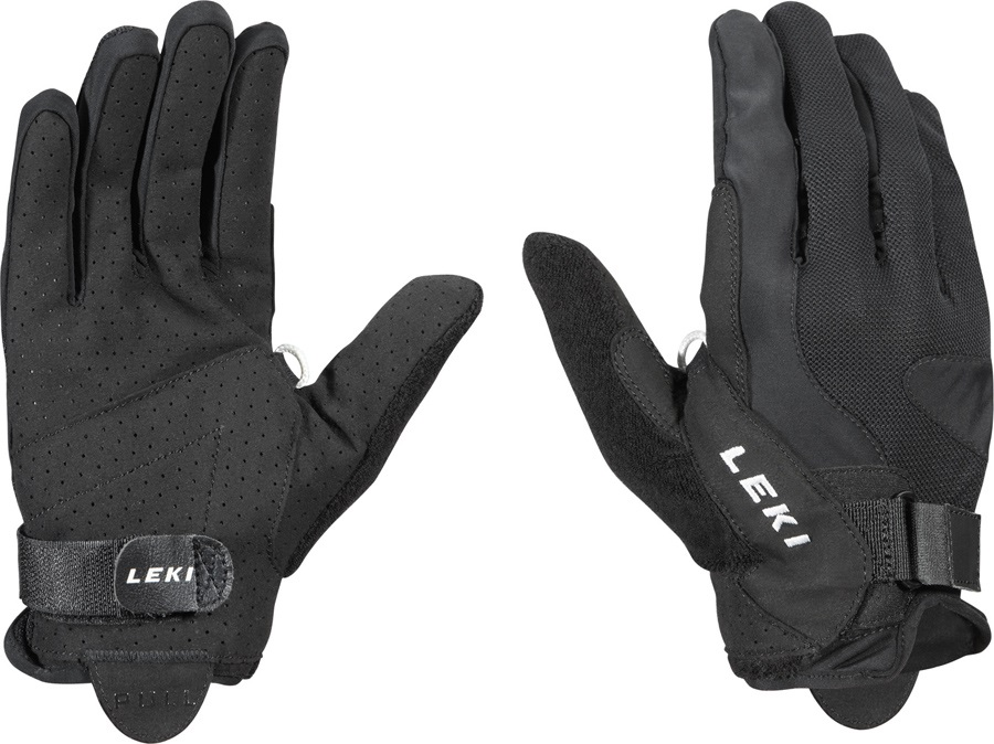 Leki Summer Shark Long Nordic Walking Pole Gloves, XXL Black
