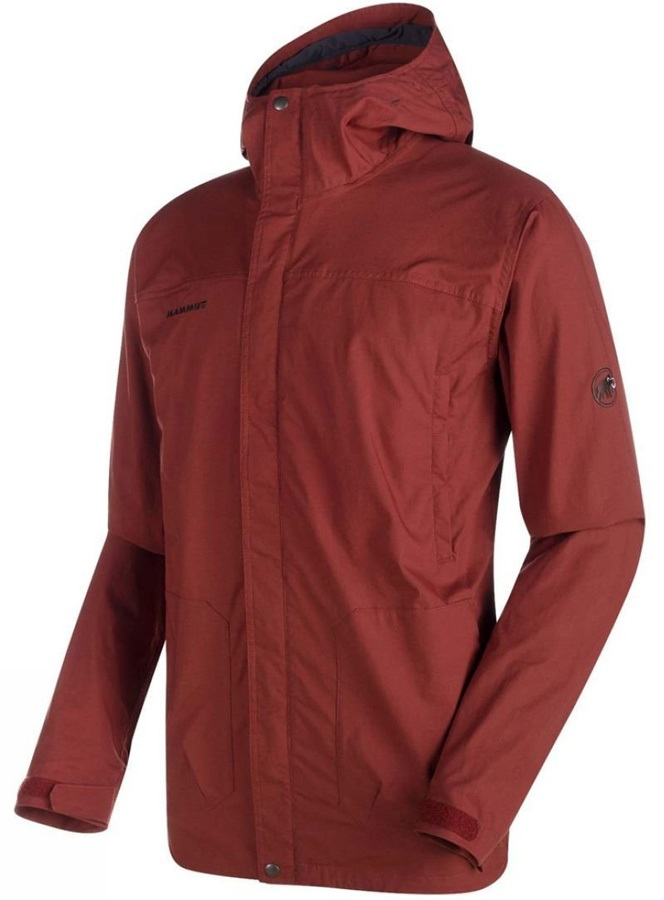 Mammut Trovat Guide SO Soft Shell Hooded Jacket, S Maroon