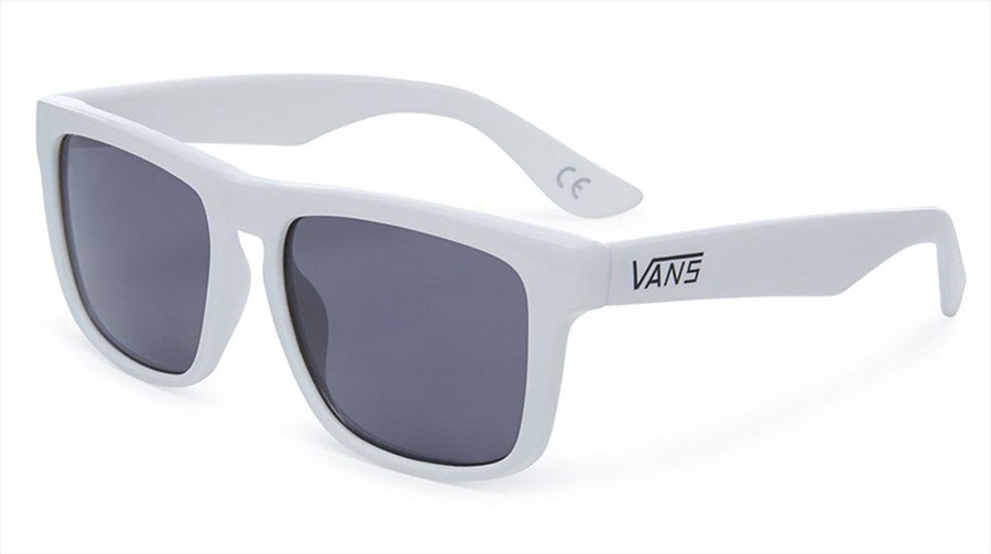 Vans Squared Off Black Lens Sunglasses, White