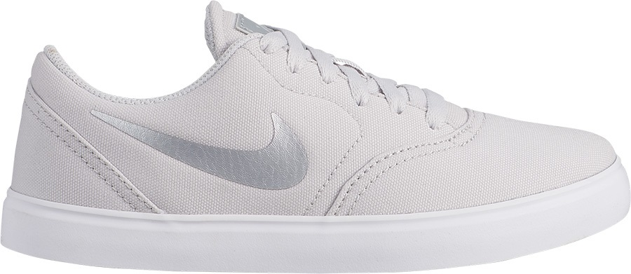 Nike SB Check Canvas Women's/Kid's Skate Shoes, UK 6.5 Vast Grey/White
