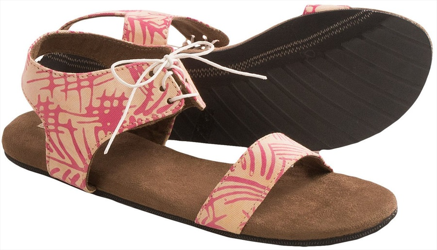 Indosole Sambal Womens Sandals UK 4 Pink Palm