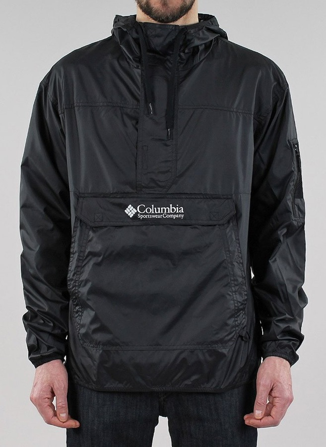 Columbia Mens Challenger Windbreaker Windproof Jacket L Black