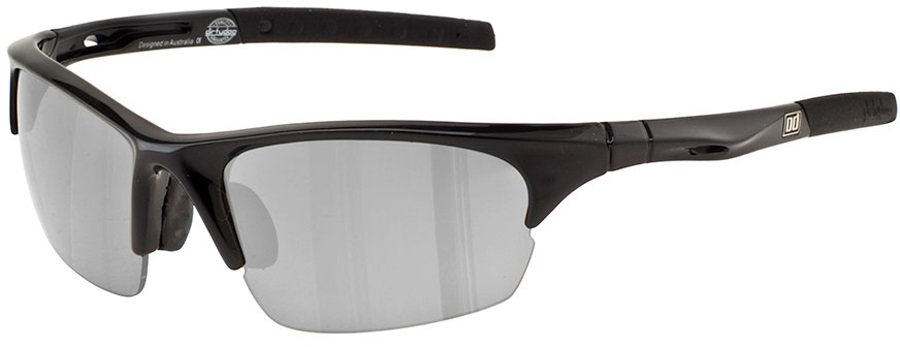 Dirty Dog Sport Ecco Sunglasses, M, Black, Silver Polarized