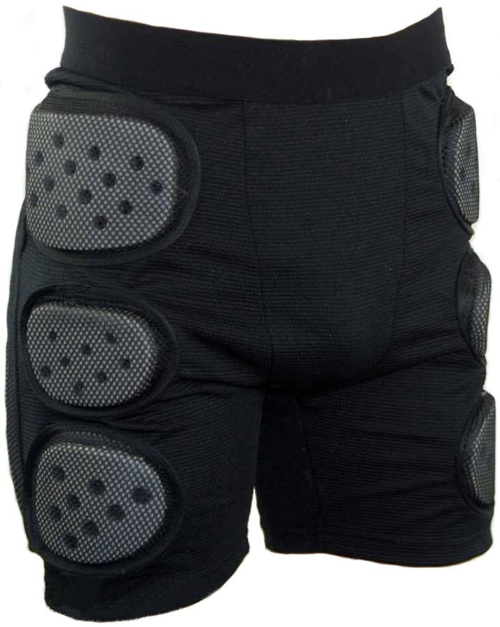 Manbi Crash Pant Impact Shorts, Large, Black