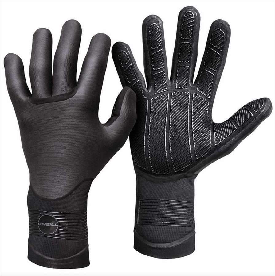 O'Neill Wetsuits Psycho Tech 1.5mm Wetsuit Gloves, XL Black