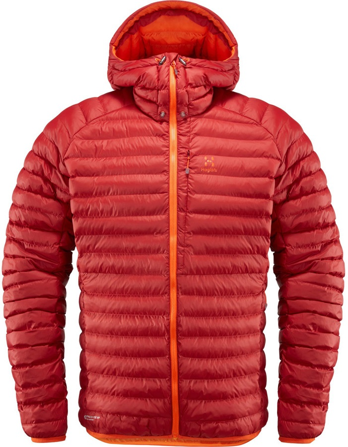 Haglofs Essens Mimic Hood Insulated Jacket, XXL Rubin Cayenne