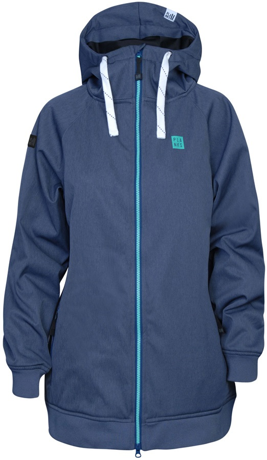 Planks Reunion Women's Ski/Snowboard Jacket, M Heather Navy