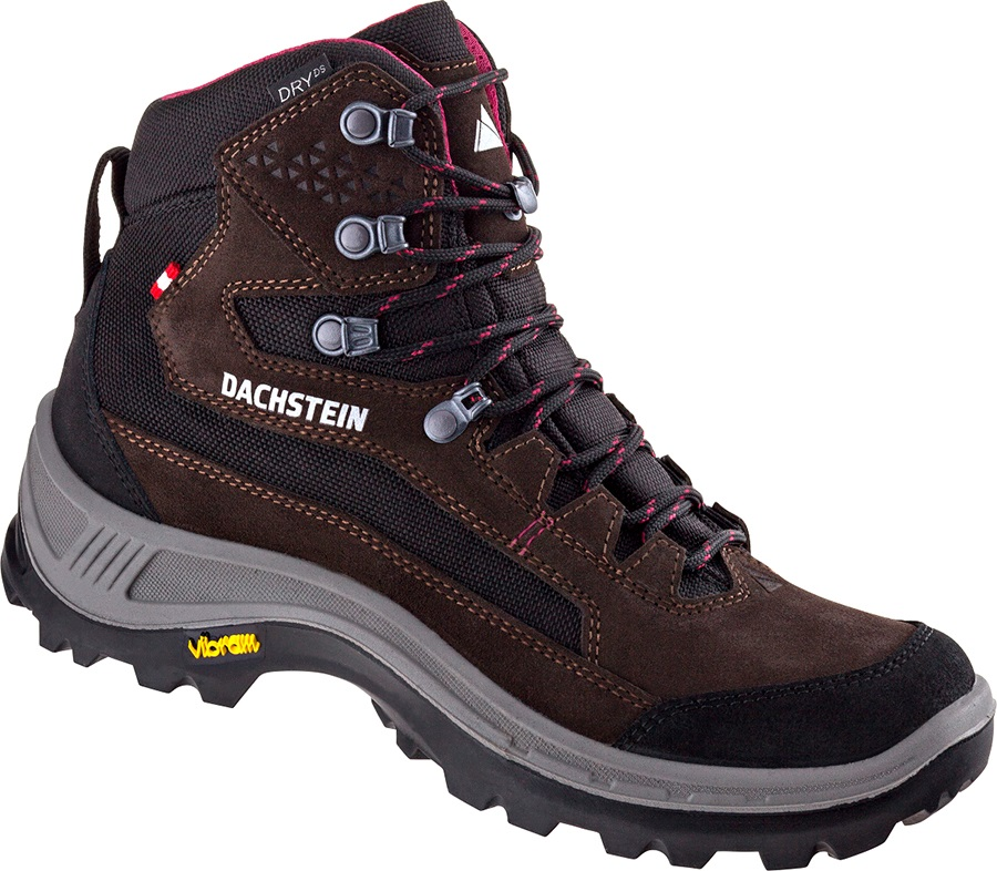 Dachstein Rax MC DDS Women's Hiking Boots, UK 5 Dark Brown/Cranberry