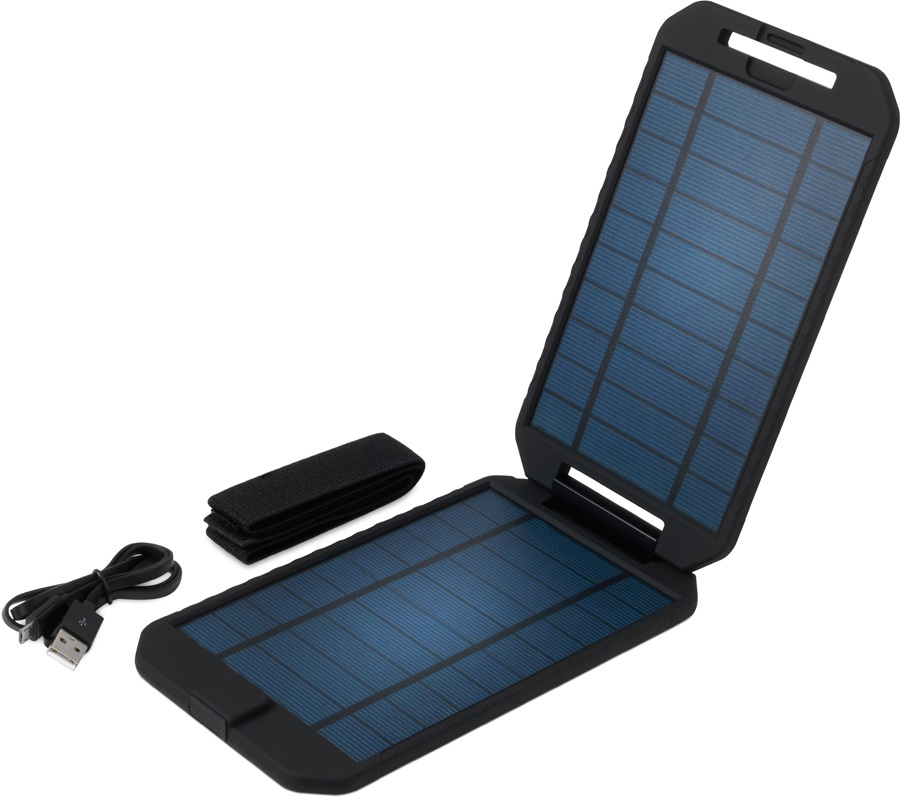 PowerTraveller Extreme Solar Compact Solar Device Charger, Black