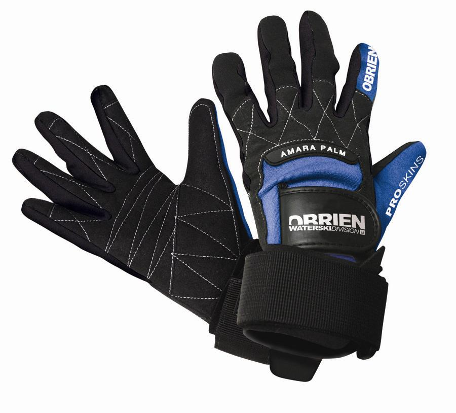 O'Brien PRO SKIN Waterski Wakeboard Gloves, Small - 7, Black Blue