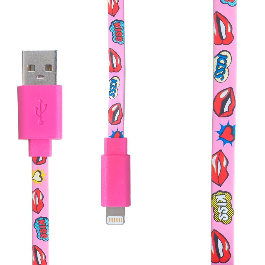 Pop Power Apple MFI/Lightning IPhone Charging Cable, 1m, Lips Kiss