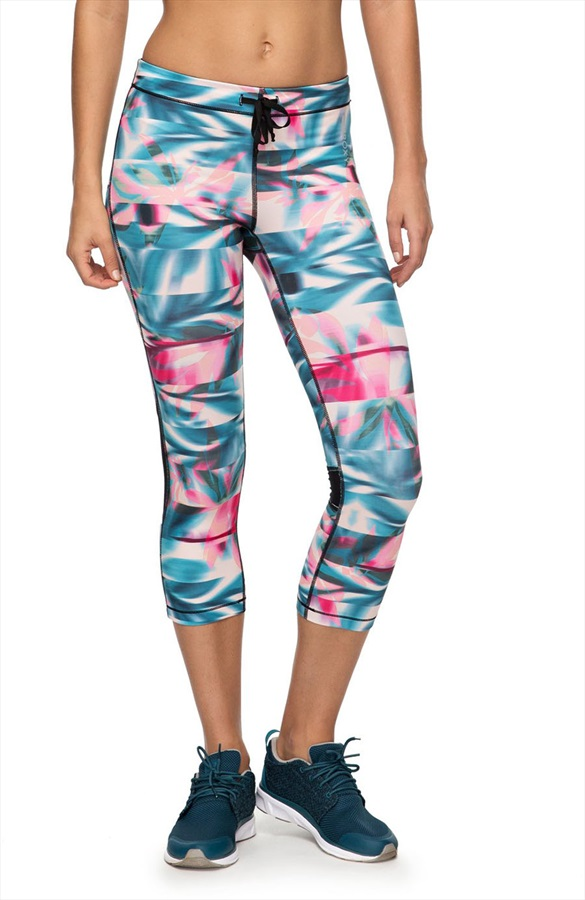 773131acb254e Roxy Stay On Capris Women's Active Running Leggings, XS Pink/Blue