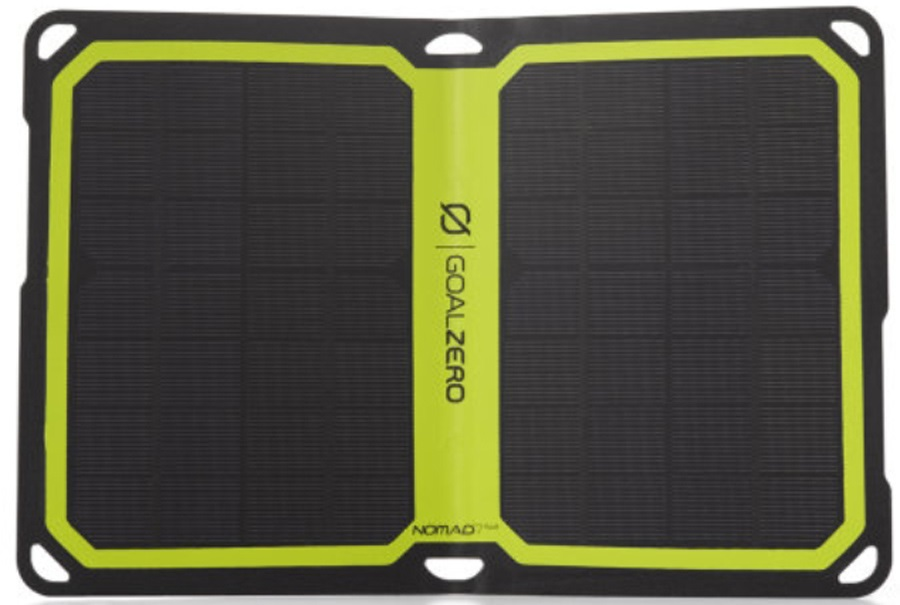 Goal Zero Nomad 7 Plus Portable Solar Recharger Kit Black