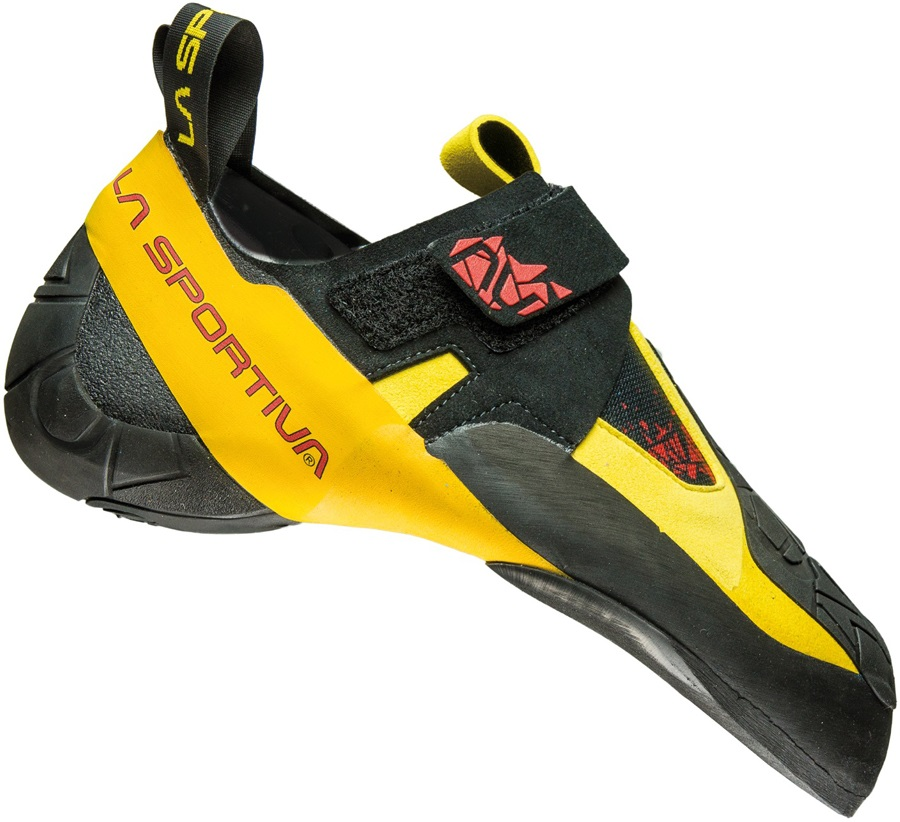La Sportiva Skwama Rock Climbing Shoe: UK 6 | EU 39, Yellow/Grey
