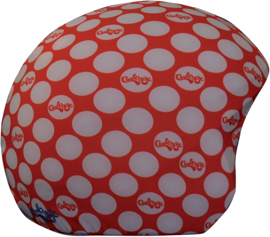 Coolcasc Printed Cool Ski/Snowboard Helmet Cover, CoolCasc Red Dots