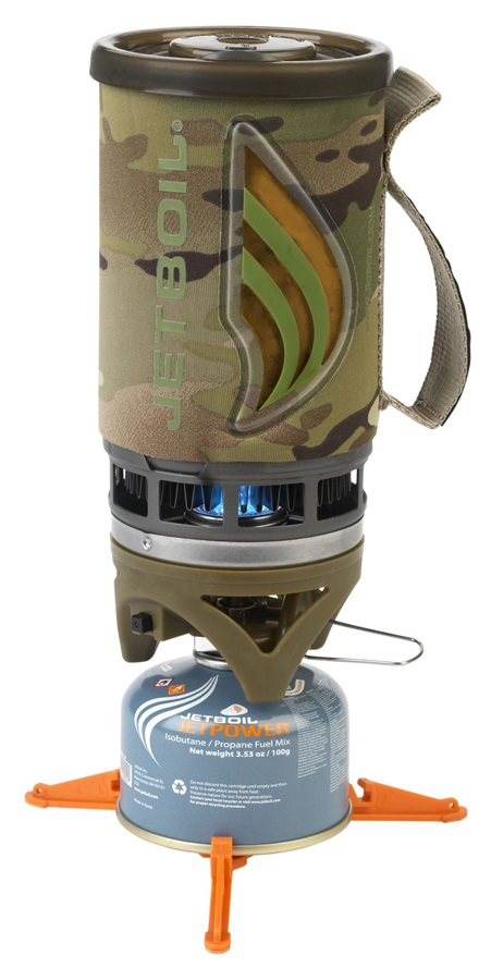 Jetboil Flash Personal Cooking System Quick Boil Camp Stove, 1L, Camo