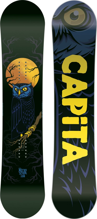 Capita Micro-Scope Kids Hybrid Camber Snowboard, 135cm 2018