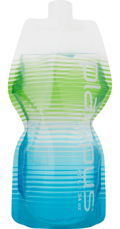 Platypus Softbottle Closure Cap Flexible Water Bottle, 1L Coastal
