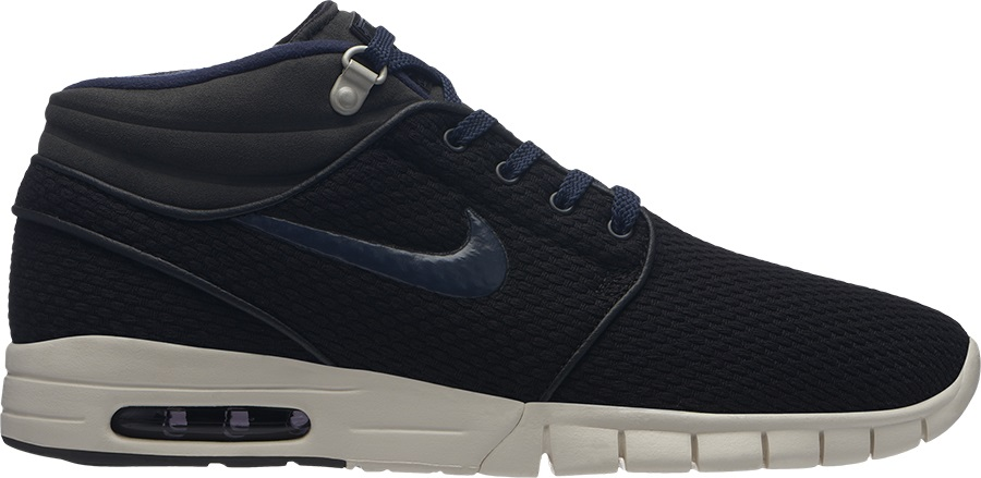 Nike SB Stefan Janoski Max Mid Skate Shoes, UK 7.5 Black/Obsidian