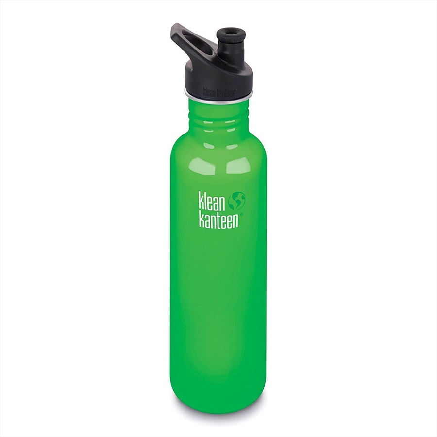980d524ced Klean Kanteen Classic Loop Cap Water Bottle, 800ml Spring Green