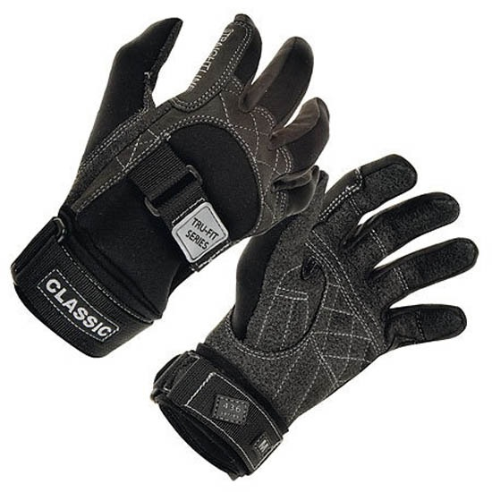 Straight Line Classic Kevlar Waterski Gloves Black
