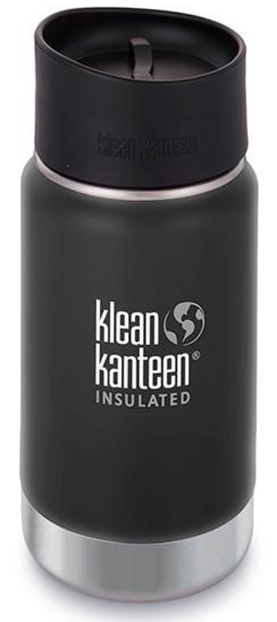 Klean Kanteen Vacuum Flask Insulated Wide Water Bottle 355ml Black Shl