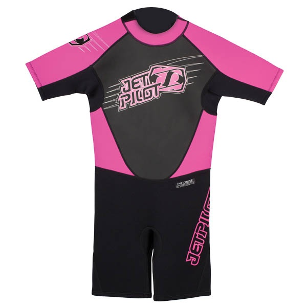 JetPilot Cause Youth 2/2 Shorty Wetsuit, XS, 7-8 Years, Pink