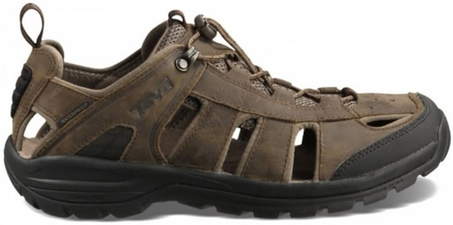 Teva Mens Kimtah Leather Sandal Uk 10 Turkish Coffee