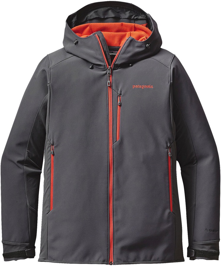 Patagonia Adze Hoody Softshell Jacket, L Forge Grey