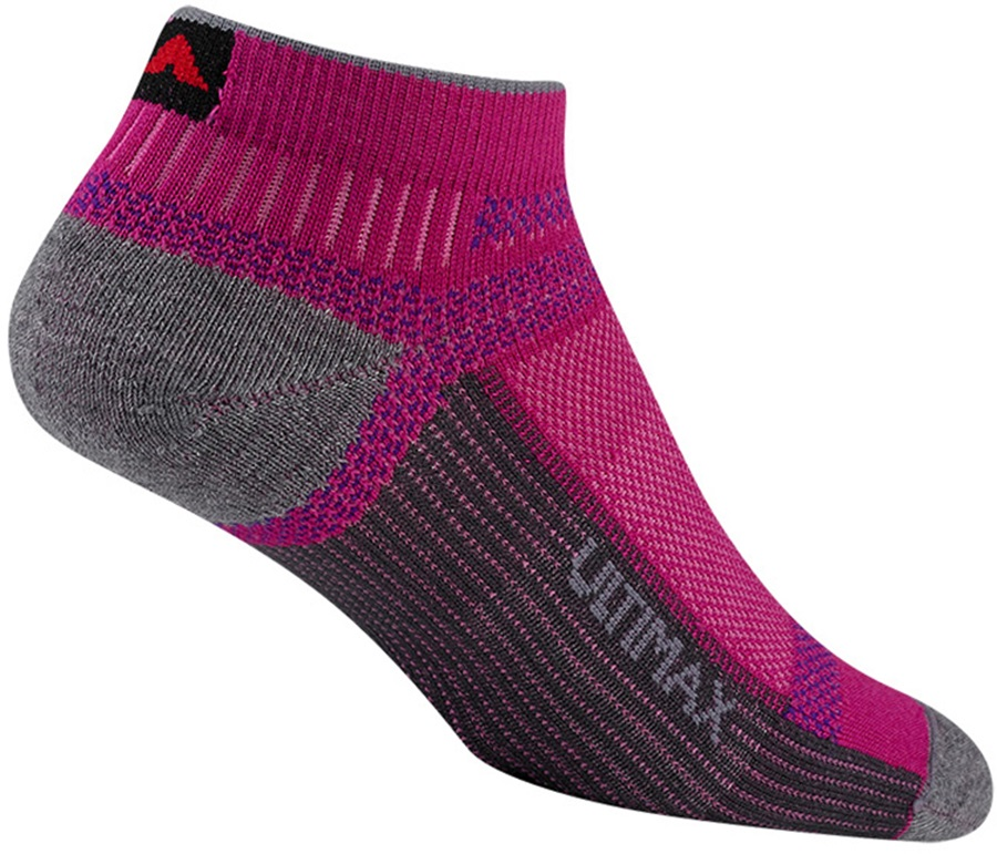 Wigwam Ultra Cool-Lite Low Walking/Hiking Socks, M Pink Scramble