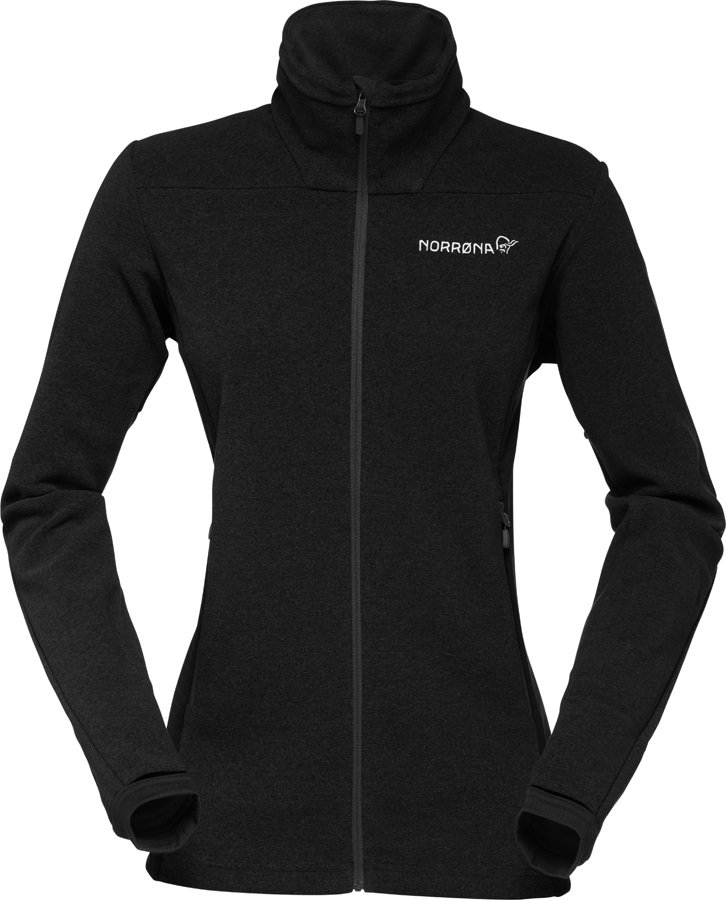 Norrona Falketind Warm1 Jacket Women's Polartec Fleece, UK 12 Caviar