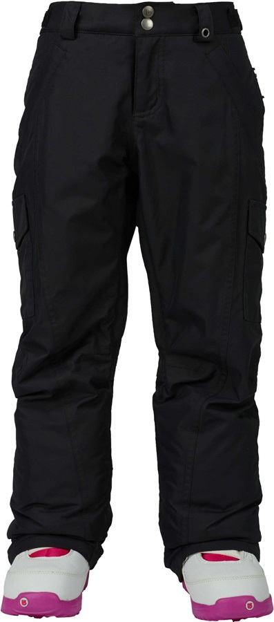 Burton Elite Cargo Girls Snowboard Pants, XS, True Black