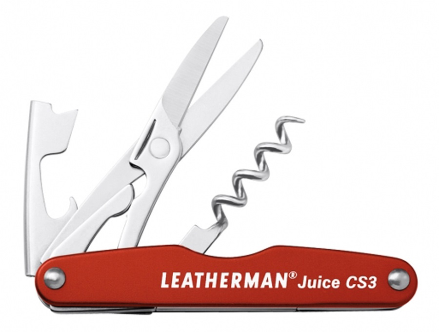 Leatherman Juice CS3 Pocket Multi-Tool, 4-in-1 Cinnabar