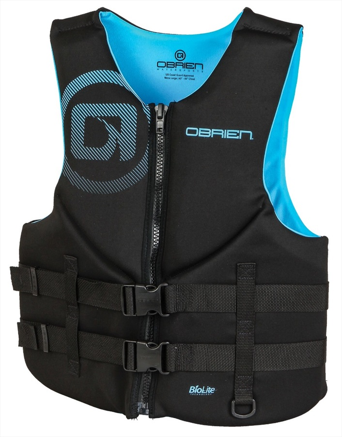 O'Brien Traditional Neo Ski Impact Vest Buoyancy Aid, XXXL Cyan
