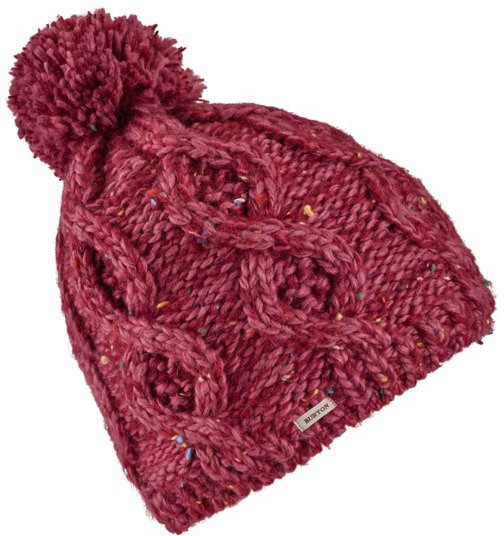 Burton Chloe Women's Bobble Hat, One Size Rose Brown/Port Royal Marble