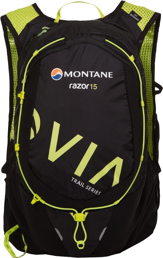 Montane VIA Razor 15 Trail Running Vest Pack, M/L Black