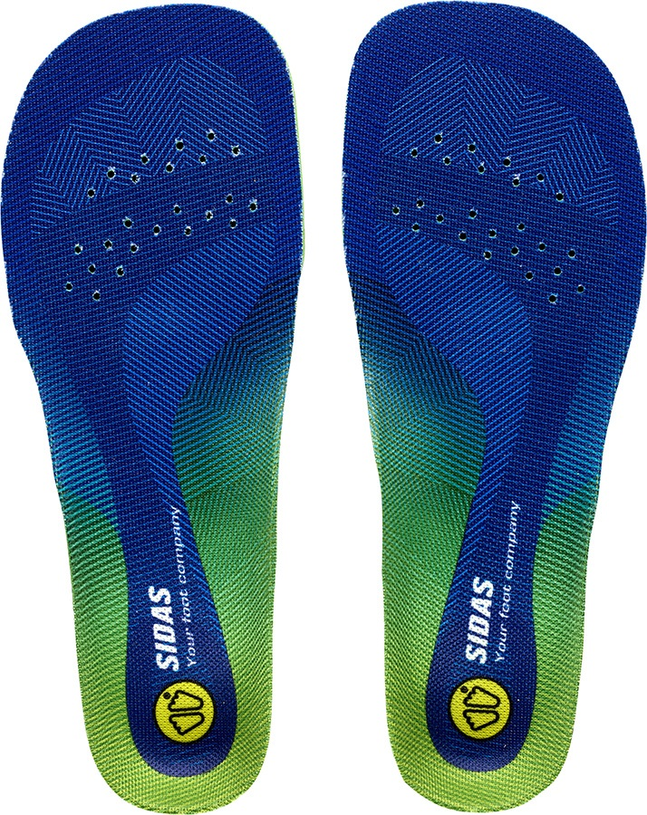 Sidas Comfort 3D Junior Kid's Boot/Shoe Insoles, L Blue/Green