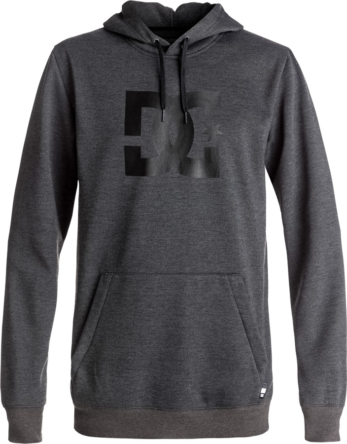 DC Snowstar Pullover Tech Ski/Snowboard Hoodie, M Dark Shadow Heather