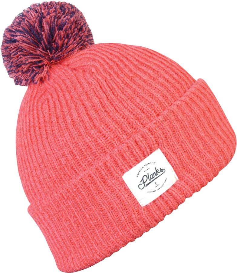 1dd0773fe2c747 Planks Mountain Supply Co Snowboard/Ski Bobble Hat, One Size Coral