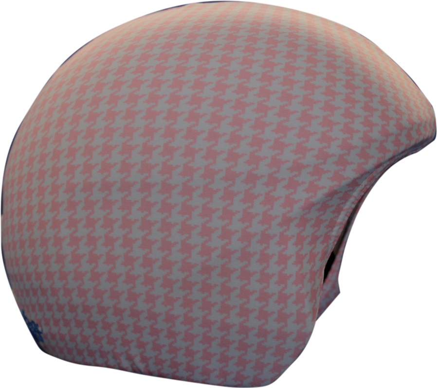Coolcasc Printed Cool Ski/Snowboard Helmet Cover, Pink/White