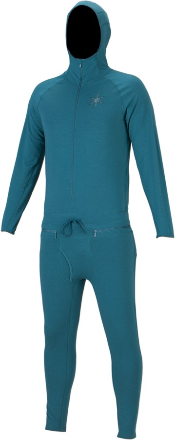 Airblaster Classic Ninja Suit Base Layer, XS, Teal, Hooded