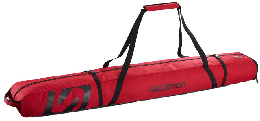 Salomon Extend 2 Pairs 175 20 Ski Bag 195cm Barbados Cherry Black