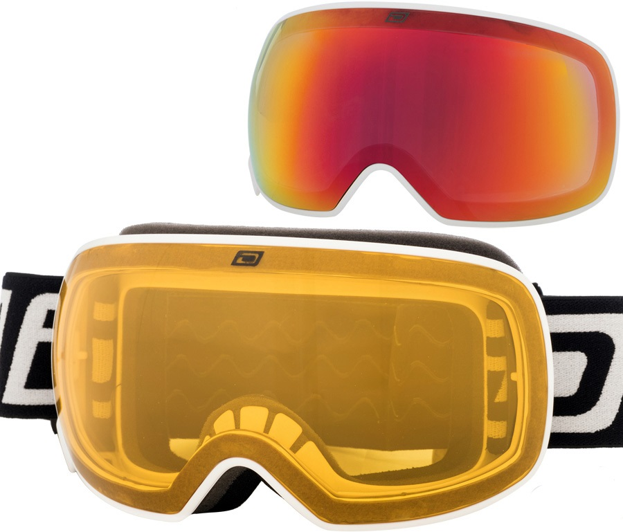 Dirty Dog Mutant 2.0 Red Fusion Snowboard/Ski Goggles, L White