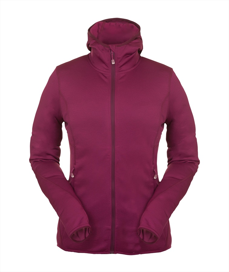 Montane Sirenik Hoodie Women's Fleece Jacket, UK 10 Dahlia