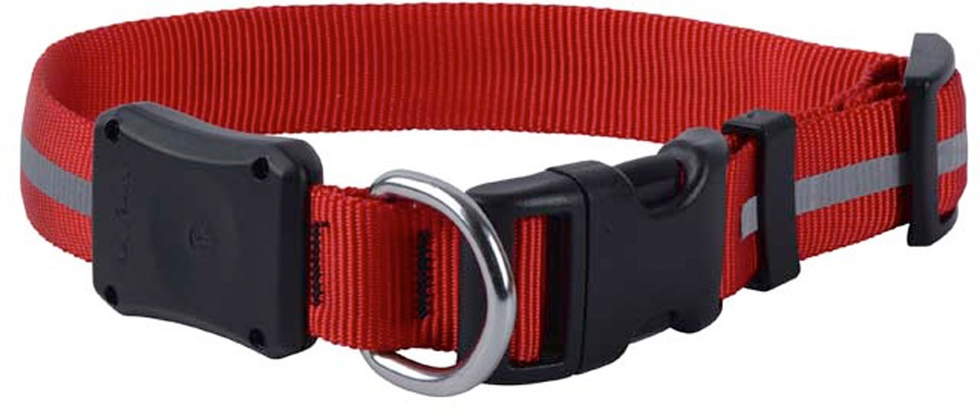 Nite Ize Nite Dawg 2 LED Light Up Dog Hi Vis Collar L Red